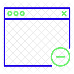 Remove browser Line Icon