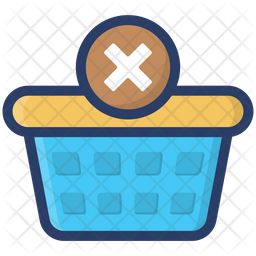 Remove From Basket Colored Outline Icon