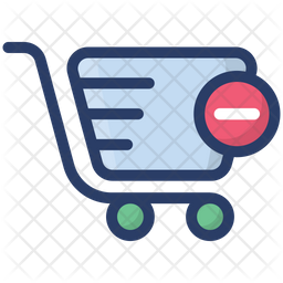 Remove From Cart Colored Outline Icon