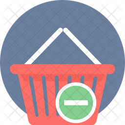 Remove From Cart Rounded Icon
