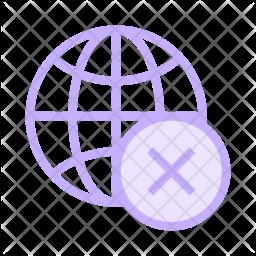 Remove network Colored Outline Icon