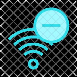 Remove signal Colored Outline Icon