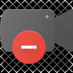 Remove video Flat Icon