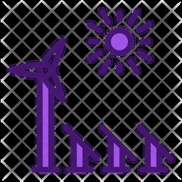 Renewable Energy Integration Icon