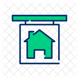 Rent house Line Icon