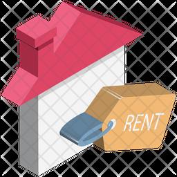 Rent Signboard Isometric Icon