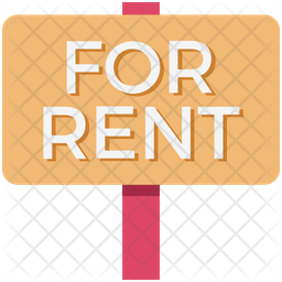 Rent Signboard Flat Icon