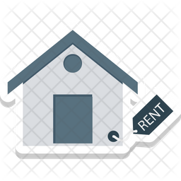 Rent Signboard Colored Outline Icon