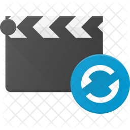 Replay Clapper Flat Icon