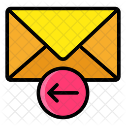 Reply Email Colored Outline Icon
