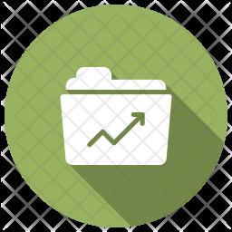 Report Folder Glyph Icon