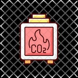 Residential wood burning Icon