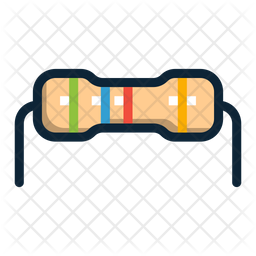 Resistor Colored Outline Icon