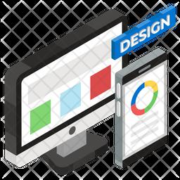 Responsive Design Isometric Icon