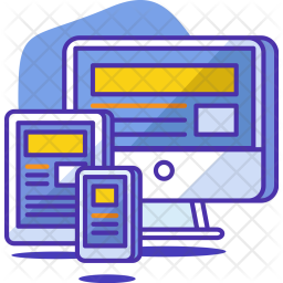 Responsive, Design, Tablet, Mobile, Computer, Graphic, Layout Icon