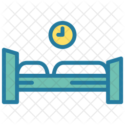 Rest time Colored Outline Icon