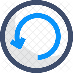 restart icon of colored outline style available in svg png eps ai icon fonts restart icon