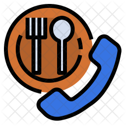 Restaurant Reservation Icon Of Colored Outline Style Available In Svg Png Eps Ai Icon Fonts