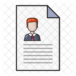Resume Colored Outline Icon