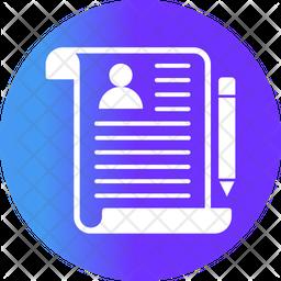 Resume Flat Icon