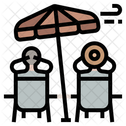 Retirement Colored Outline Icon