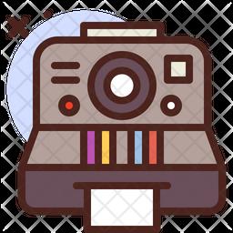Retro Cam Colored Outline Icon