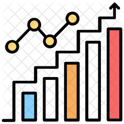 Revenue Growth Colored Outline Icon