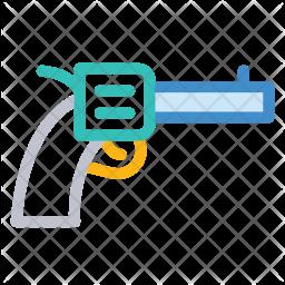 Revolver Colored Outline Icon
