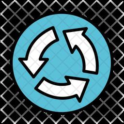 Revolving road Icon