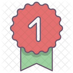 Ribbon, Winner, One, Badge, Price, Award, Appraisal Icon png