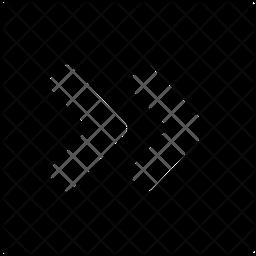 Right Angle Quote Glyph Icon