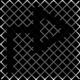 Right Arrow Line Icon