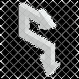 Right Bend Arrow Icon