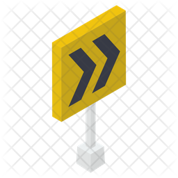 Right Traffic Sign Icon