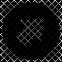 Right Upward Arrow Glyph Icon