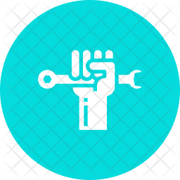 Rights Glyph Icon