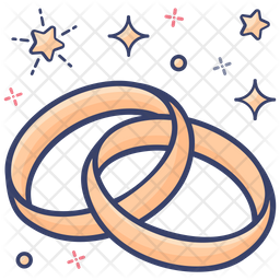 Rings Colored Outline Icon