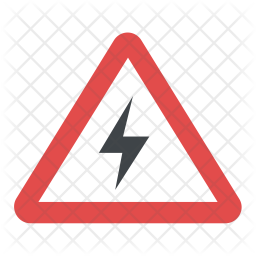Risk Of Electric Shock Icon