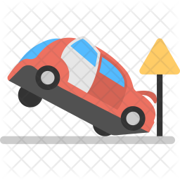 Road Accident Flat Icon