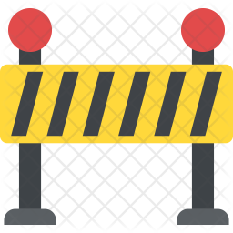Road Barrier Flat Icon