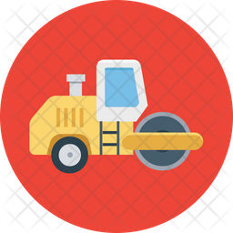 Road Bulldozer Icon