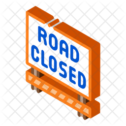 Road Closed Board Icon