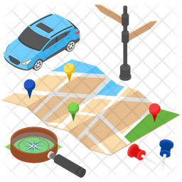 Road Map Icon