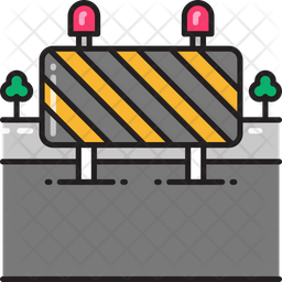 Road Obstruction Icon Of Colored Outline Style Available In Svg Png Eps Ai Icon Fonts