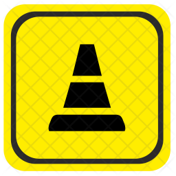 Road, Pointer, Attention, Detour, Obstacles Icon