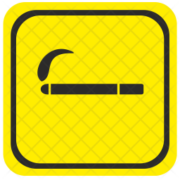 Road, Pointer, Smoking, Area, Attention Icon
