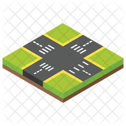 Road Square Icon