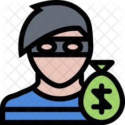Robber, Law, Crime, Judge, Court, Police Icon