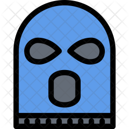 Robber, Mask, Law, Crime, Judge, Court, Police Icon