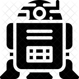Robot Glyph Icon